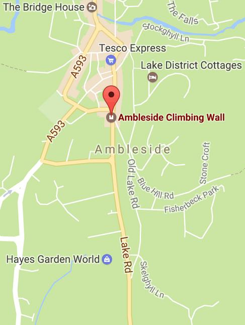 map ambleside climbing wall
