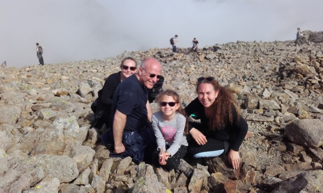 Family photo at the summit on Sunday
