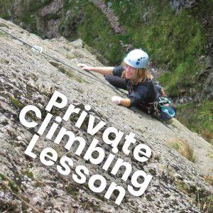 private rock climbing lesson