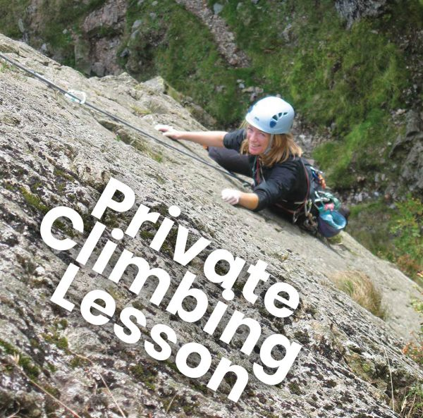 private rock climbing lesson